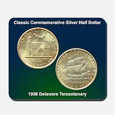 Delaware Tercentenary Coin Mousepad