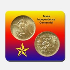 Texas Independence Coin Mousepad