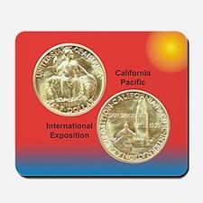 California Pacific Expo Coin Mousepad