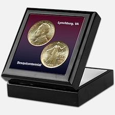 Lynchburg VA Sesquicentennial Coin Keepsake Box