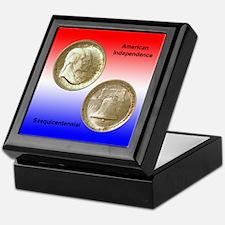 American Independence Coin Keepsake Box