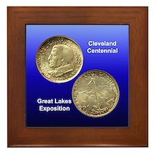 Cleveland Centennial Coin Framed Tile