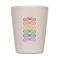 Rainbow Moustaches Shot Glass