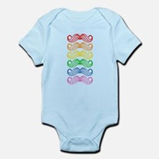 Rainbow Moustaches Body Suit