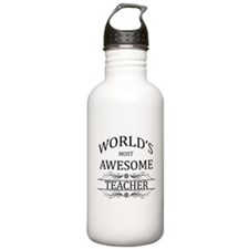 World's Most Awesome Teacher Sports Water Bottle
