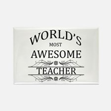 World's Most Awesome Teacher Rectangle Magnet