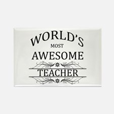 World's Most Awesome Teacher Rectangle Magnet (10