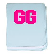 GG - GRANDMA HOT PINK DESIGN baby blanket