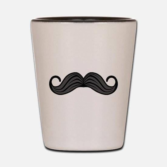 Retro Moustache Shot Glass