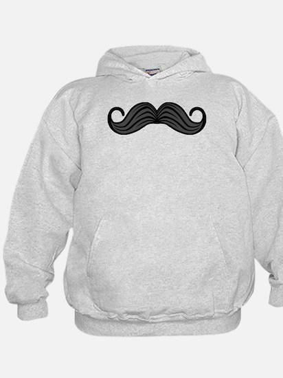 Retro Moustache Hoodie