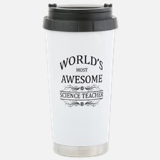 World's Most Awesome Science Teacher Stainless Ste