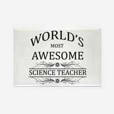 World's Most Awesome Science Teacher Rectangle Mag
