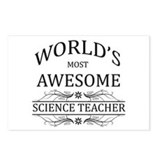 World's Most Awesome Science Teacher Postcards (Pa