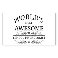 World's Most Awesome School Psychologist Decal
