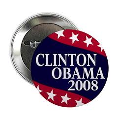 Clinton-Obama 2008 Button