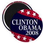 Clinton-Obama 2008 Magnet