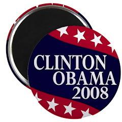 Clinton-Obama 2008 Magnet
