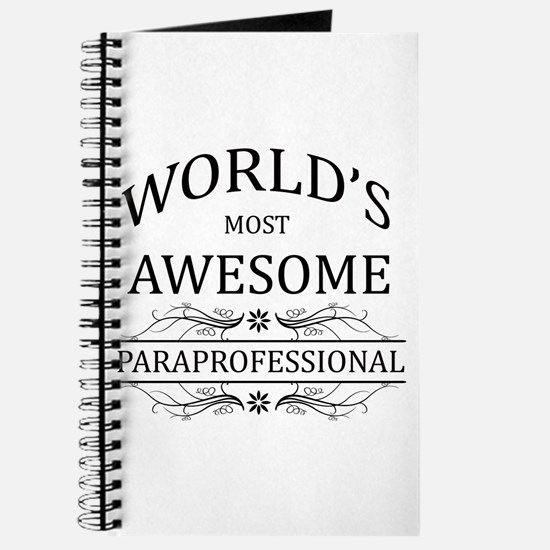 World's Most Awesome Paraprofessional Journal