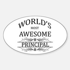 World's Most Awesome Principal Sticker (Oval)