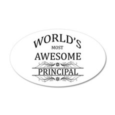 World's Most Awesome Principal Wall Decal