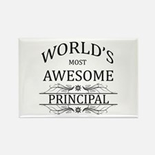 World's Most Awesome Principal Rectangle Magnet