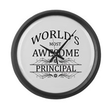 World's Most Awesome Principal Large Wall Clock