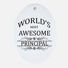 World's Most Awesome Principal Ornament (Oval)