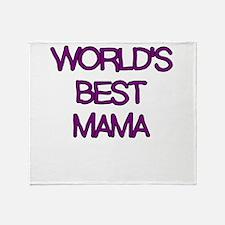 WORLDS BEST MAMA Throw Blanket