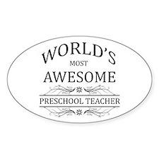 World's Most Awesome Preschool Teacher Decal