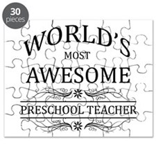 World's Most Awesome Preschool Teacher Puzzle