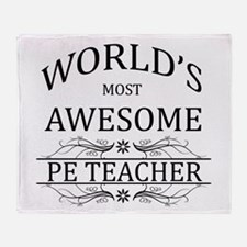 World's Most Awesome PE Teacher Throw Blanket