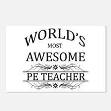 World's Most Awesome PE Teacher Postcards (Package
