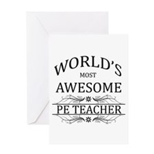 World's Most Awesome PE Teacher Greeting Card