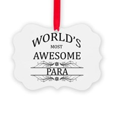 World's Most Awesome Para Ornament