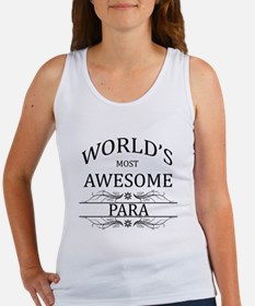World's Most Awesome Para Women's Tank Top