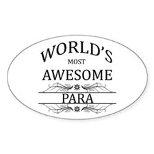 World's Most Awesome Para Decal