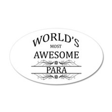 World's Most Awesome Para Wall Decal