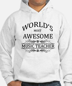 World's Most Awesome Music Teacher Hoodie Sweatshirt
