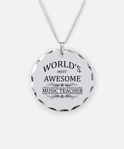 World's Most Awesome Music Teacher Necklace