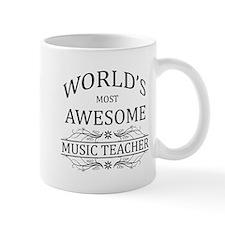 World's Most Awesome Music Teacher Mug