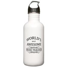 World's Most Awesome Music Teacher Sports Water Bottle