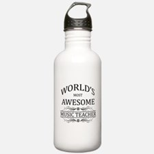 World's Most Awesome Music Teacher Water Bottle
