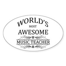 World's Most Awesome Music Teacher Decal