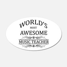 World's Most Awesome Music Teacher Wall Decal