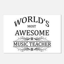 World's Most Awesome Music Teacher Postcards (Pack