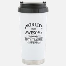 World's Most Awesome Math Teacher Stainless Steel