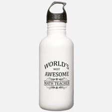 World's Most Awesome Math Teacher Sports Water Bottle