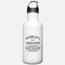 World's Most Awesome Math Teacher Water Bottle
