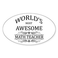 World's Most Awesome Math Teacher Decal