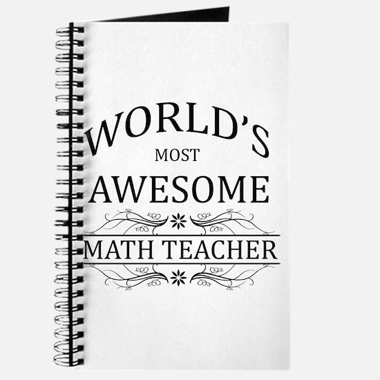 World's Most Awesome Math Teacher Journal